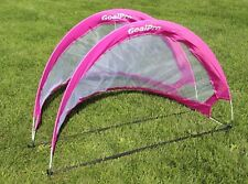 (2) NEW PORTABLE POP UP FOLDABLE GIRLS  SOCCER GOAL CHILD SOCCER GAME COACH PINK