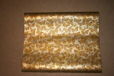 Lot of 3 Vintage 60's/70's Fashon Metallized Mylar Gold Butterfly Wallpaper