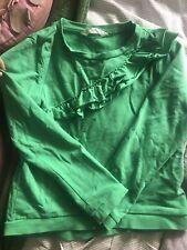 H&m Bright Green Ruffle Sweatshirt Jumper 8-10y Eur 134/140.