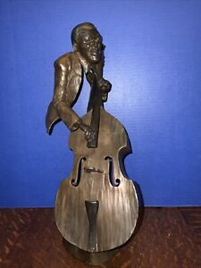 "Mark Hopkins Bronze Sculture ""Jazz Bass"" Limited Edition 374/750. 1992"