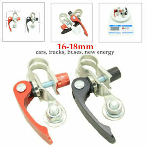 2PCS Car Heavy Duty Battery Post Cable Terminal Wire Disconnect Switch Link Kit
