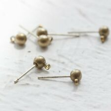 1 Par de Pendientes de plata esterlina oreja Cables 2.5mm cuentas de bucle gotas cuentagotas