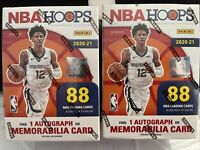 Lot Of 2 2020-21 Panini NBA Hoops Blaster Boxes FACTORY SEALED