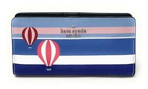 Kate Spade Cameron Large Slim Bifold Leather Wallet Credit Card