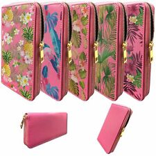 Pink Wallet for Women | Clutch Wallet for Girls with Tropical Designs