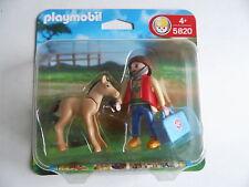 PLAYMOBIL 5820 Caballo / Potro con tierärztin Nuevo Caja orig. Ver fotos