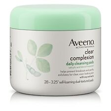 Aveeno Clear Complexion Daily Cleansing Pads, 28 Ct (8 Pack)