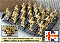 20x Battle Droids ARMY Star Wars Clone Wars Mini Figures option for BASE PLATE!