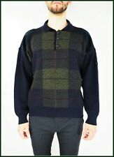 Vintage PIERRE CARDIN Creation Paris Pure New Wool Polo Collar Sweater size L