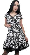 Gothic Killer Zombie Panda Print Rockabilly Pocket Dress Alternative Punk Emo