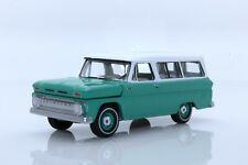 1965 Chevy Suburban Classic SUV, C-10 1:64 Scale Diecast Model (Green)