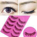 Long Thick Cross 5 Pairs Makeup Beauty False Eyelashes Eye Lashes Extension cn