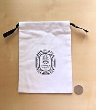 "New Diptyque Candle Dust White Cloth Bag Storage Collectible, Size: 7.2""X5.5"""