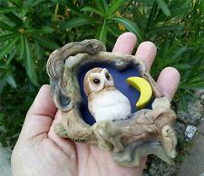 Bébé Hibou Baby Owl STATUETTE FAITE MAIN TEVIOTDALE COLLECTIONS EN ECOSSE