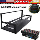8/12 GPU Slots Open Air Miner Mining Frame Rig Case For Crypto Currency Mining