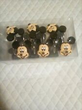 New Disney Mickey Mouse Shower Curtain Hooks Set Of 12 Cute!
