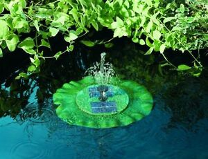 Floating Lily Smart Solar Fountain Pond Water Feature Garden Decoration