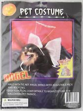 Pet Halloween Angel Costume Cat Dog One Size Wings Halo Small Medium New