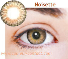 SALE: LENTILLE DE COULEUR NOISETTE COLOR LENS VERRE CONTACT DARK EYES 3 MOIS