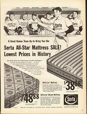 1961 Vintage ad for Serta All-Star Mattress Sale/Ball Team/Art (070113)