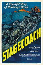 Stagecoach (1939) John Wayne Claire Trevor movie poster print 6