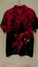 SPIDERMAN MARVEL COMICS 2002 COLLECTIBLE SHORT SLEEVE SHIRT YOUTH  16-18 large
