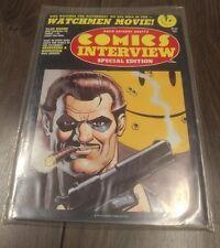 WATCHMEN COMICS INTERVIEW #48 - ALAN MOORE INTERVIEW - Watchmen Movie Cover 1987