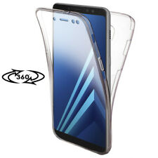 Full Cover Case for Samsung Galaxy A8 Clear Bumper Rubber Back Phone Shell Clear