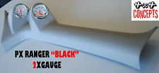 2 GAUGE PILLAR POD TO SUIT FORD PX RANGER 2011 - Current 52MM NOT PAINTED Black