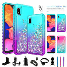 For Samsung Galaxy A10E Liquid Glitter Bling Protective Case Cover / Accessories