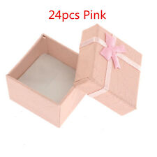 24*Pink Wholesale Ring Earring Square Jewellery Gift Case Boxes Display Package