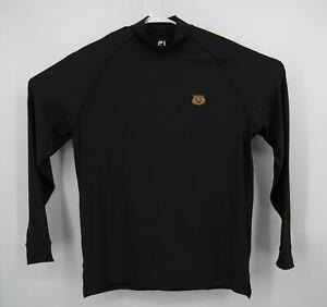 Footjoy Mens Medium Long Sleeve Mock Neck Golf Performance Shirt Black Pullover