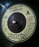 "Boomtown Rats ‎Mary Of The 4th Form 7"" Vinyl Single Record Ensign ‎– ENY 9 1977"