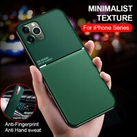 For iPhone 11 Pro Max XR XS 7 8 SE 2 Shockproof Thin Leather Magnetic Case Cover