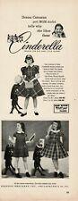 1952 ROSENAU BROS. Cinderella Frock Dress DONNA CORCORAN Child Star Vintage Ad