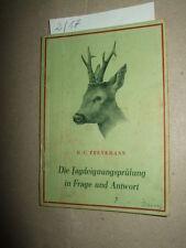 Die Jagdeignungsprüfung in Frage und Antwort,1956,DDR,Jägerei,Tier-/Naturbuch