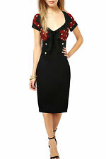 Unbranded Plus Size Knee Length Wiggle, Pencil Dresses for Women