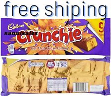 Cadbury Crunchie Chocolate Bar, 9 x 26.1 g
