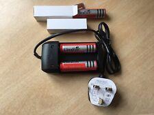 4 x 18650 4200 mAh Ultrafire 3.7 Batterie rechargeable Twin Chargeur Fondue UK Plug