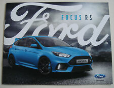 Ford . RS . Ford Focus RS . August 2016 Sales Brochure