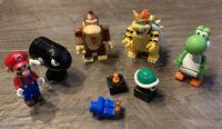 Nintendo Super Mario Knex Figure Lot: Bowser Yoshi Donkey Kong Bullet Bill Shell