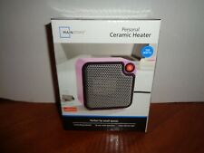 Mainstays Small Personal Electric Portable Ceramic Space Heater 250 Watt Pink