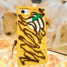 Lovely Waffle Cookies Soft Silicone Phone Case For iPhone7Plus&iphone 8Plus