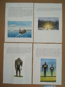 UFOs Observations SAMIZDAT - 4 N.Potapov USSR Drawings Extremely Rare Art 1990