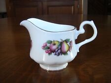 VINTAGE GAINSBOROUGH ENGLAND BONE CHINA CREAMER FRUIT DESIGN     VERY GOOD COND