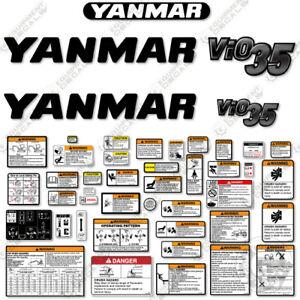 Yanmar Vio35-6 Decal Kit Replacements Mini Excavator - 3M Vinyl!