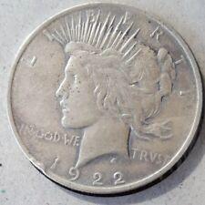 1922 Peace Dollar rare silver coin KM# 150