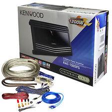 Kenwood KAC-7005PS 700W RMS 5-Channel Car Amplifier 1200W w/ Wiring Kits