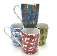 Coffee Mug Bee Ladybug Dragonfly Butterfly Design Tea Ceramic Mugs Set/4