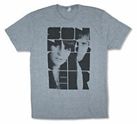 Sonny and Cher Logo Adult Heather Grey T Shirt New Official Merch Soft